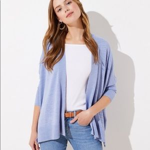 LOFT ✨NWTs✨ Textured Open Poncho Sweater